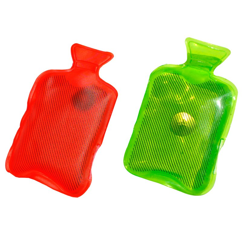 hand warmers red and green