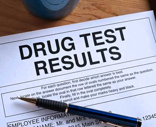 drug test result paper