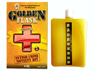 Golden Flask products with a container bag